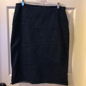 Christopher & Banks denim pencil skirt size 10